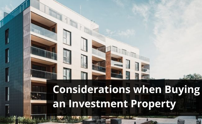 What is Important when looking for an Investment Property
